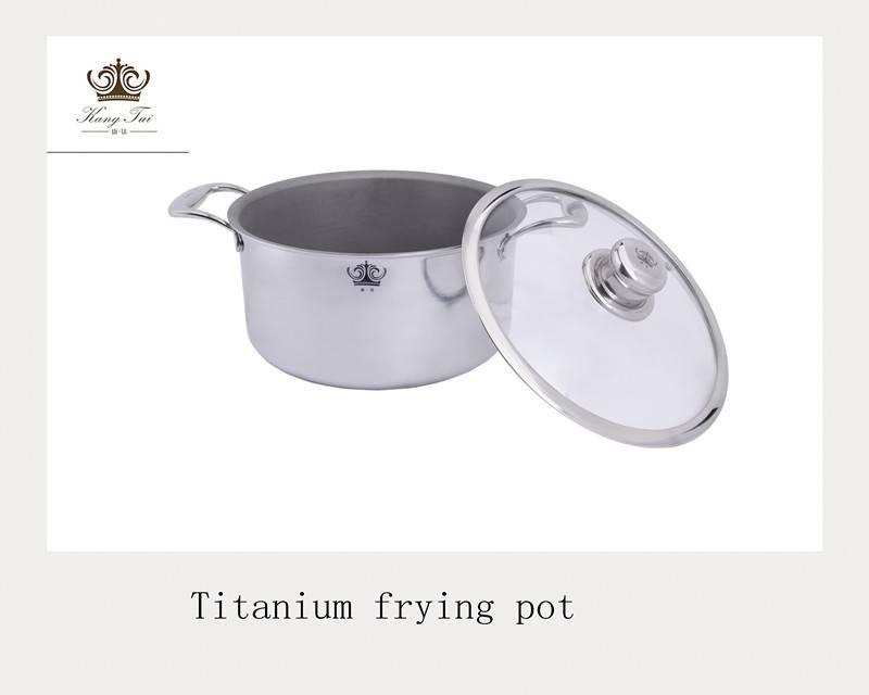 Kangtai brand titanium soup pot size in 24-26cm