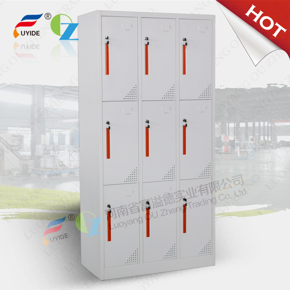 Easy Assemble office steel filing cabinet hanging cabinet with glass door inside