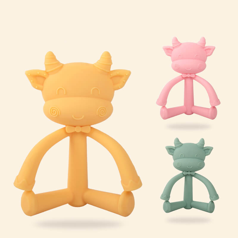 Animal Shape Silicone Soothing Molar Teether for Infant