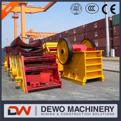 Top quality 100 tons limestone high efficiency jaw crusher