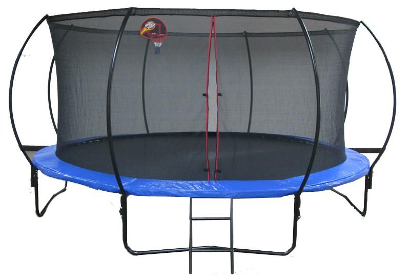 Big Round Trampoline with Enclosure