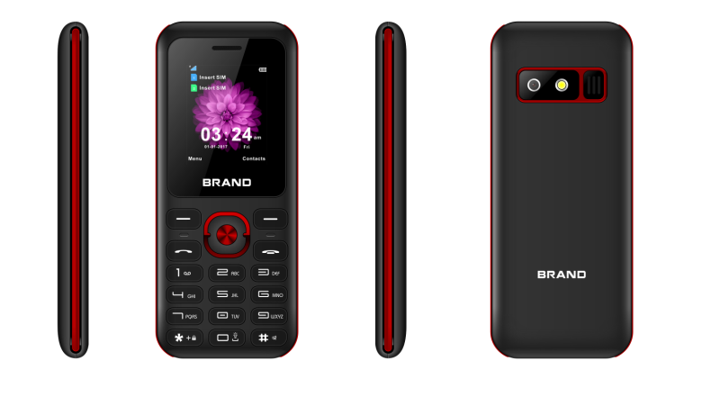 1.77inch feature phone 2G phone with 0.08MP camera SC6531DA chipset 32MB+32MB MEMORY