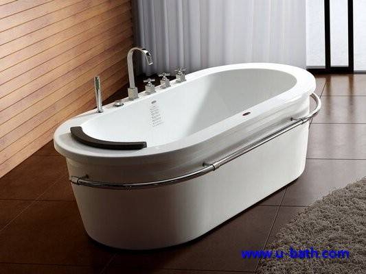 Oval shape free stand soaking bathtub UB12