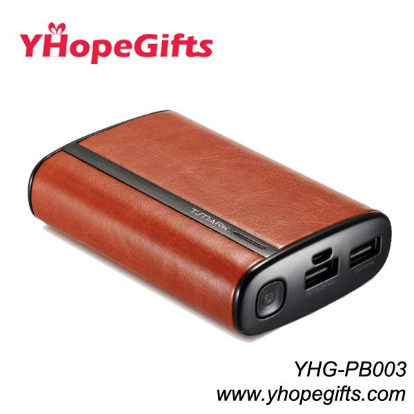 Leather power bank/charger
