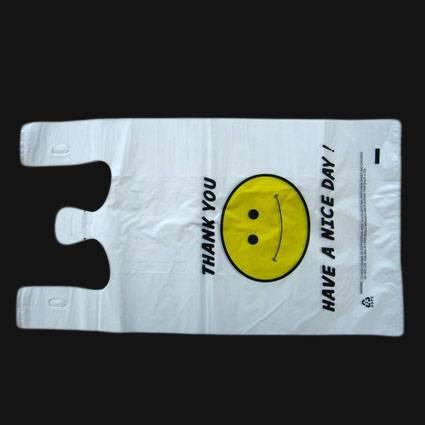 HDPE White Plastic T-Shirt Retail Shopping bag/Retail grocery bag/Vest handle bag/Vest carrier bag