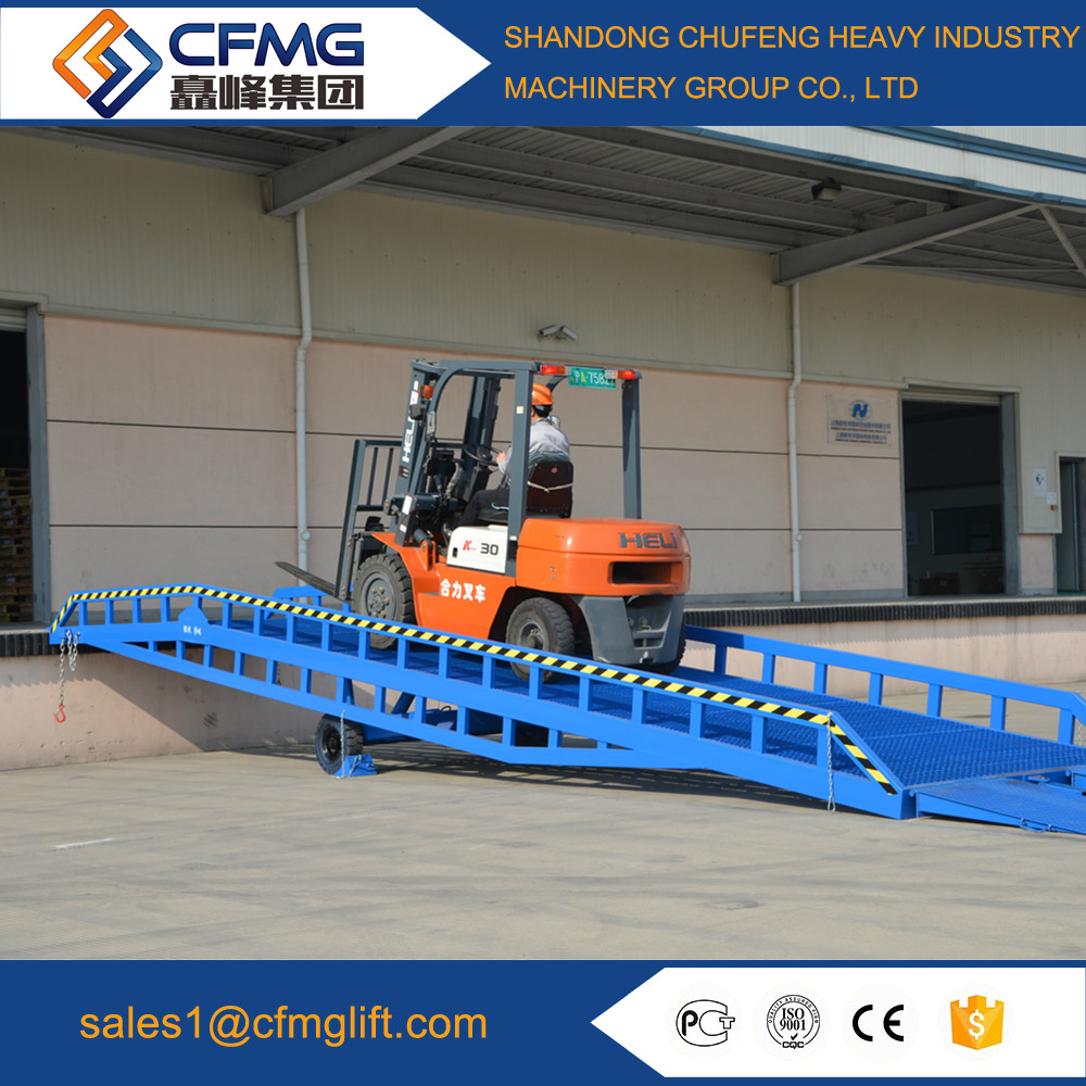 China material handling equipment parts dock ramp with legs
