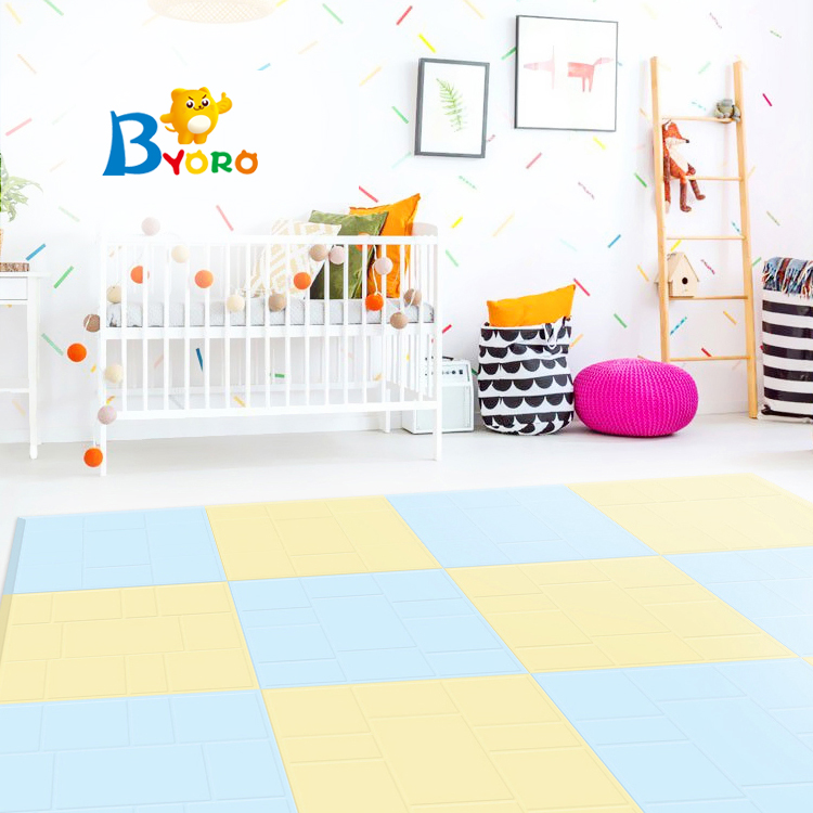 New product high quality pu foam puzzle gymnastics mats with Macaron colors