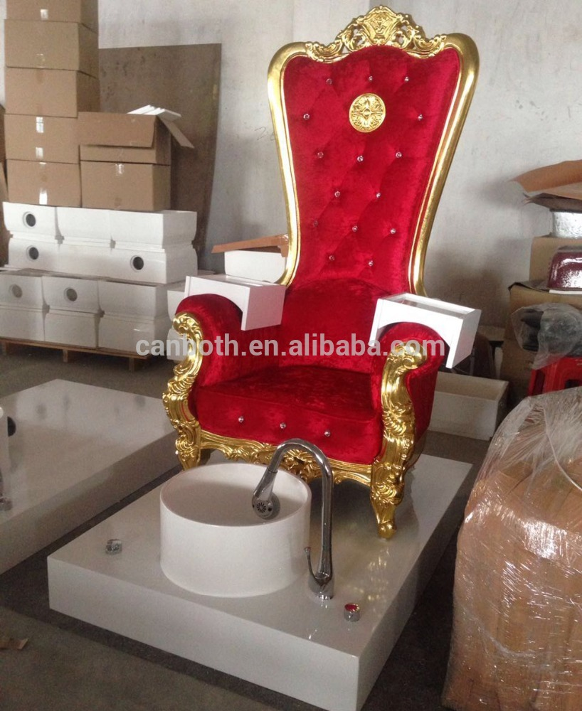 luxury throne red gold high back pedicure chair pink with pedicure chair CB-FP003