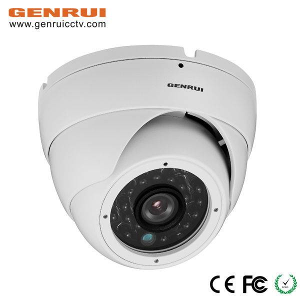 Night vision,Black LED IR 25M,Wide angle view,BLC,1/3 CMOS with DSP+ICR,HD 700TVL,Plastic dome surve