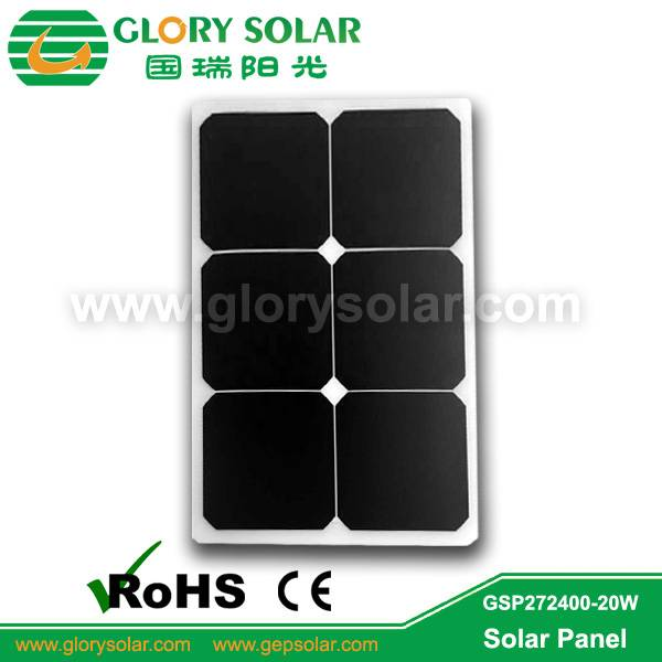 high efficiency flexible 20W solar panel