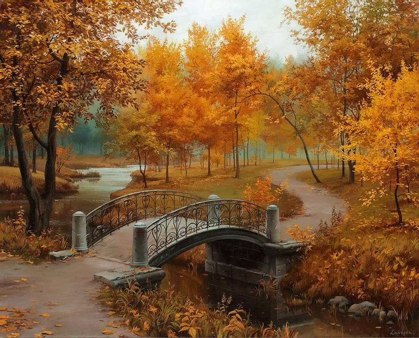 Landscape Paint By Numbers Frameless Deep Love