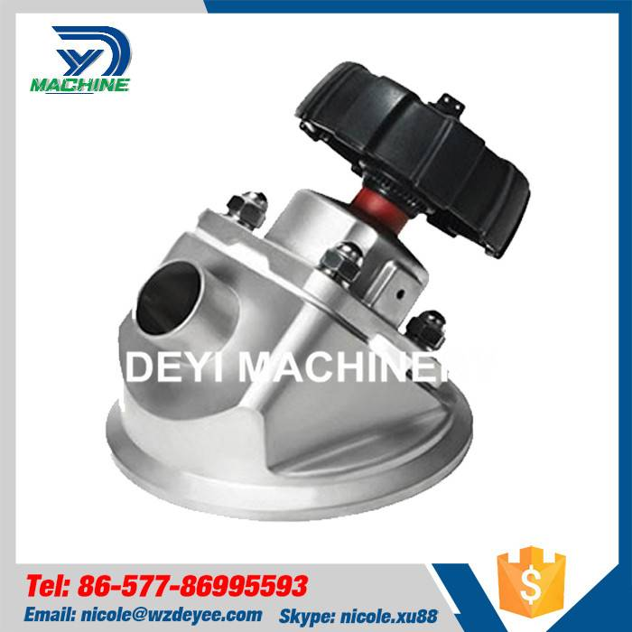 Sanitary Tank Bottom Diaphragm Valve with Weld Ends
