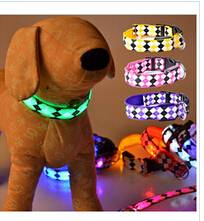 Fancy Pets Dog Colorful LED Lights Leopard Flash Night Safety Collar
