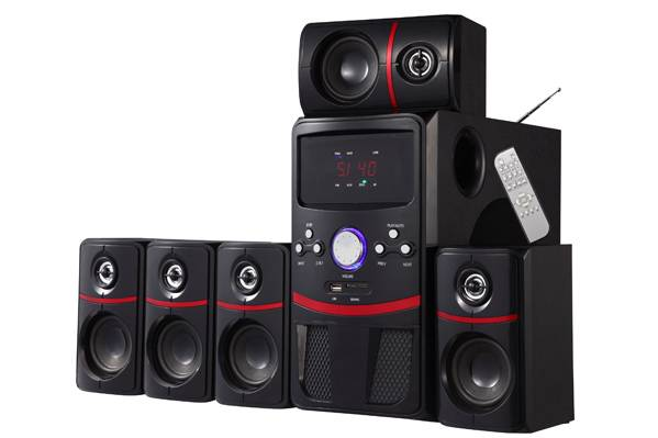5.1 ch Home Theater Speaker System with FM/USB/SD/Remote Control