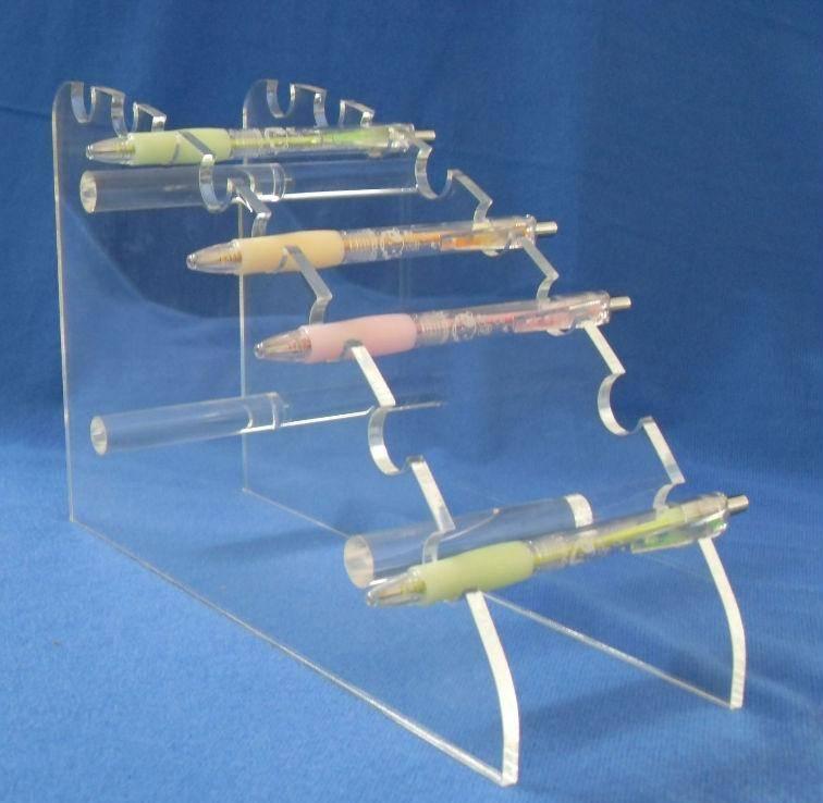 Custom clear acrylic pen holder / display rack