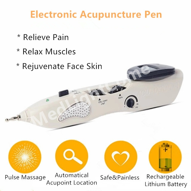 Automatic Acupoints Locating Pulse Massage Pain Relief Electronic Acupuncture Pen