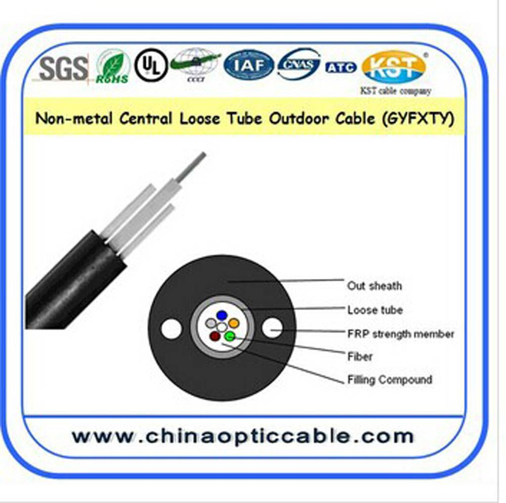 Non-metal Central Loose Tube Outdoor Cable(GYFXTY)