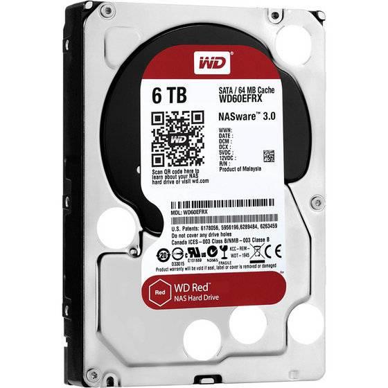 Western Digital WD60EFRX WD Red 6TB NAS Internal HDD Desktop Hard Drive Disk