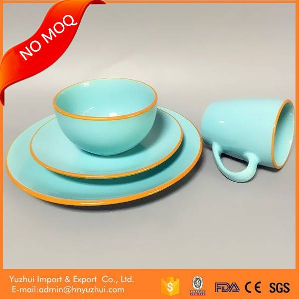 Stoneware tableware, color glaze ceramic tableware, ceramic tableware set