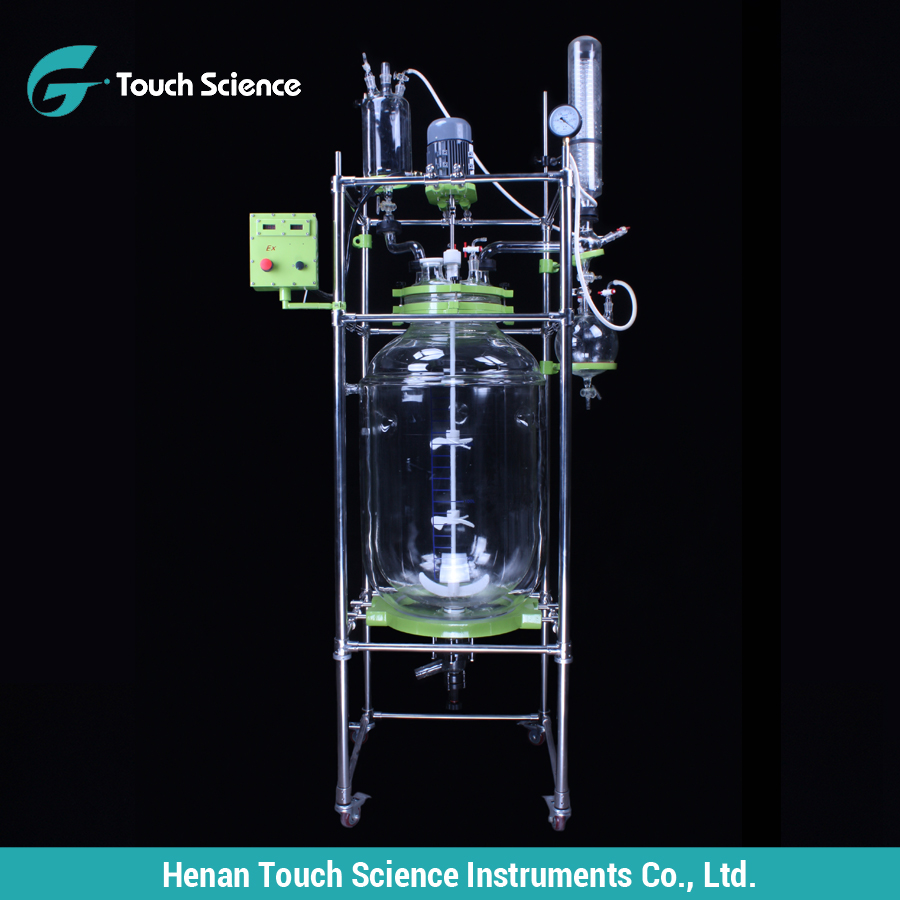 Reflux or Distillation Unit in Laboratory Glass Reactor