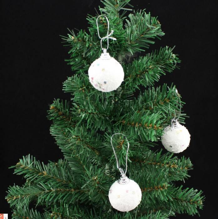decoration christmas snow ball styrofoam ball christmas hanging decoration