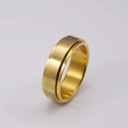 Plated gold blank stainless steel stamping ring