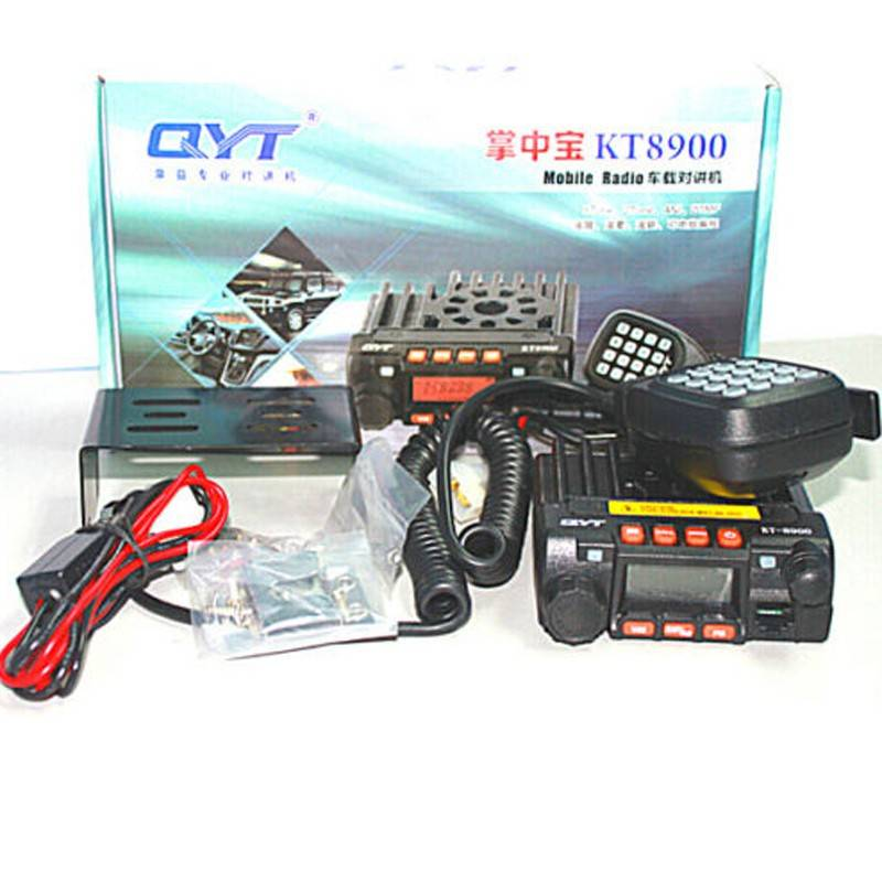 Mini car radio QYT KT-8900 136-174/400-480MHz dual band mobile transicever walkie talkie KT8900