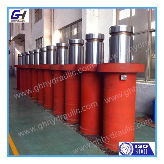 two stage double acting telescopic hydraulic cylinder