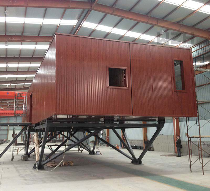 Prefab tiny glass container Mobile Prefab Container Coffee Shop/Office/House