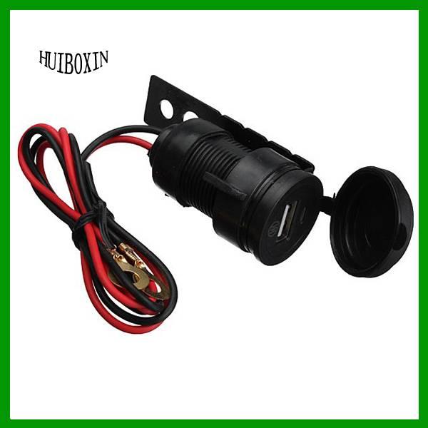 Motorcycle Waterproof HandleBar Cellphone USB Charger Power Socket Adapter 12V