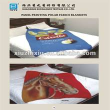 polyester polar fleece blanket panel printed animal