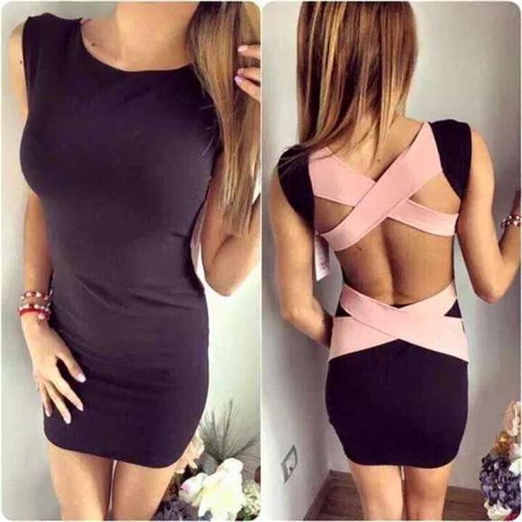 2016 Latest fashion sleeveless bandage bodycon party dress above knee
