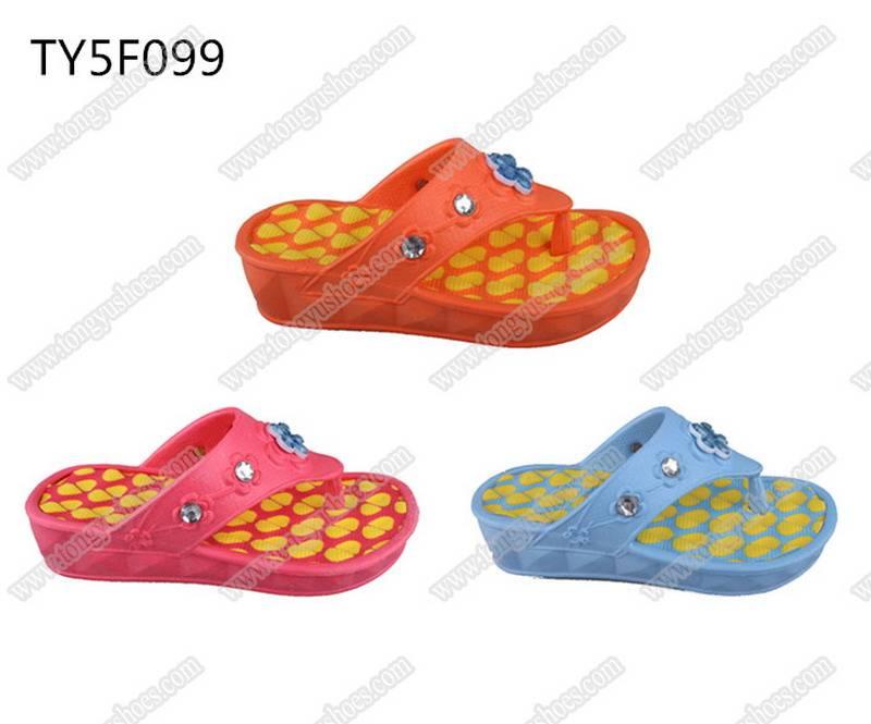 earth friendly eva material children's eva beach slippers