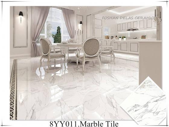 Italian Calacatta White Shiny Marble Floor Tile 80x80 60x120