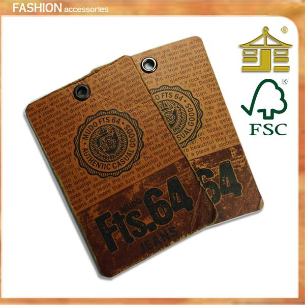 2013 hot sale paper clothing hang tags