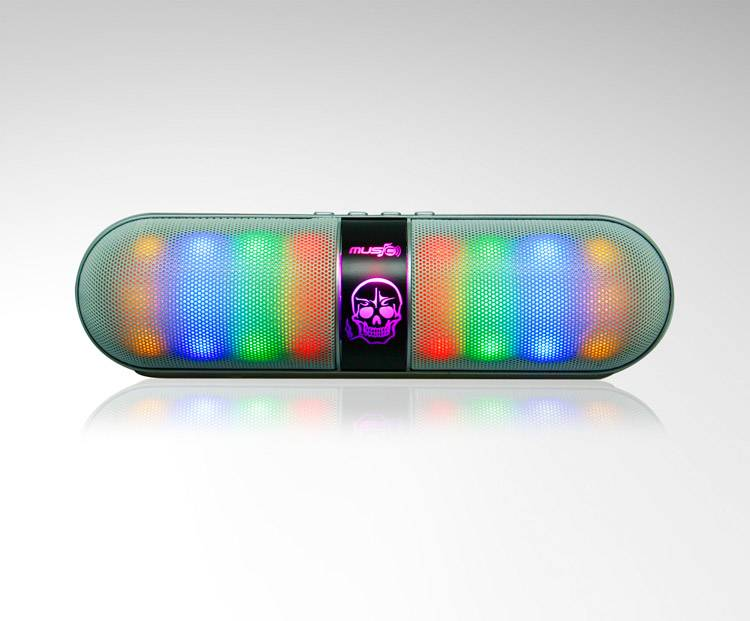 New Pill Wireless Bluetooth Speaker with LED disco light