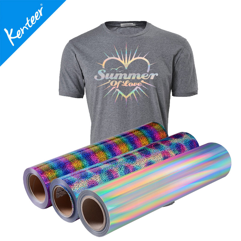 High quality hologram heat transfer vinyl 50cm25m one roll