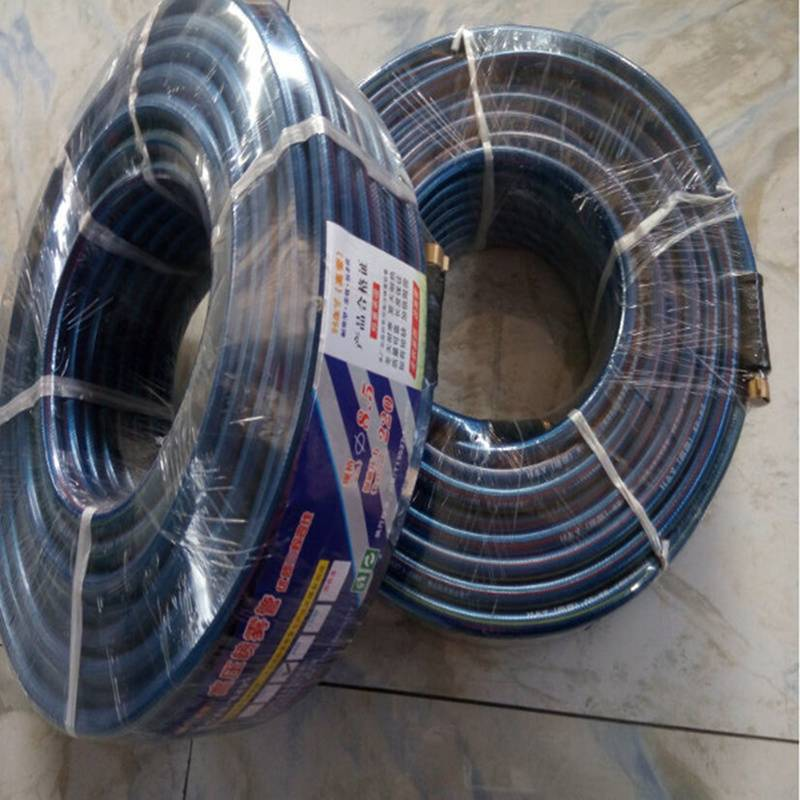 Fiber reinforced braided pvc flexible water garden hose