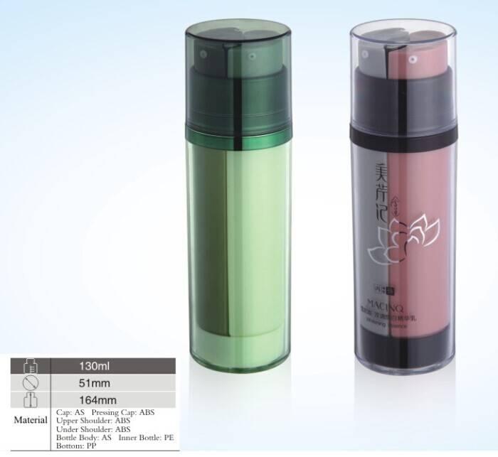 130ML Cosmetic Dual Tube Bottles