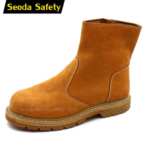 Goodyear welted no lace safety shoes