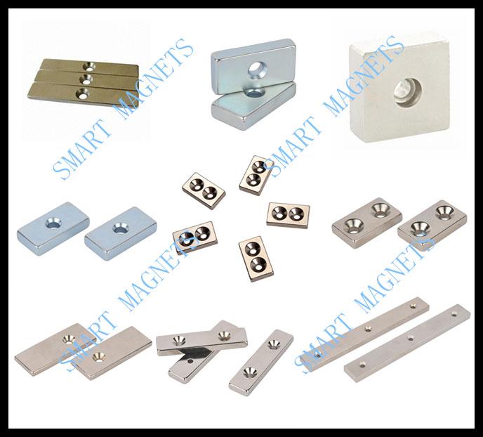 N35-N52 Permanent countersink block magnet