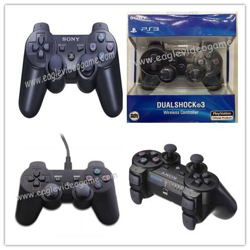 PS3 Dualshock 3 Wireless Controller Gamepad& Wireless Sixaxis Controller&Wired Dualshock Controller