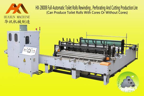 HX-2800Bfull-automatic toilet paper rewinding, embossing, perforating and cutting production line