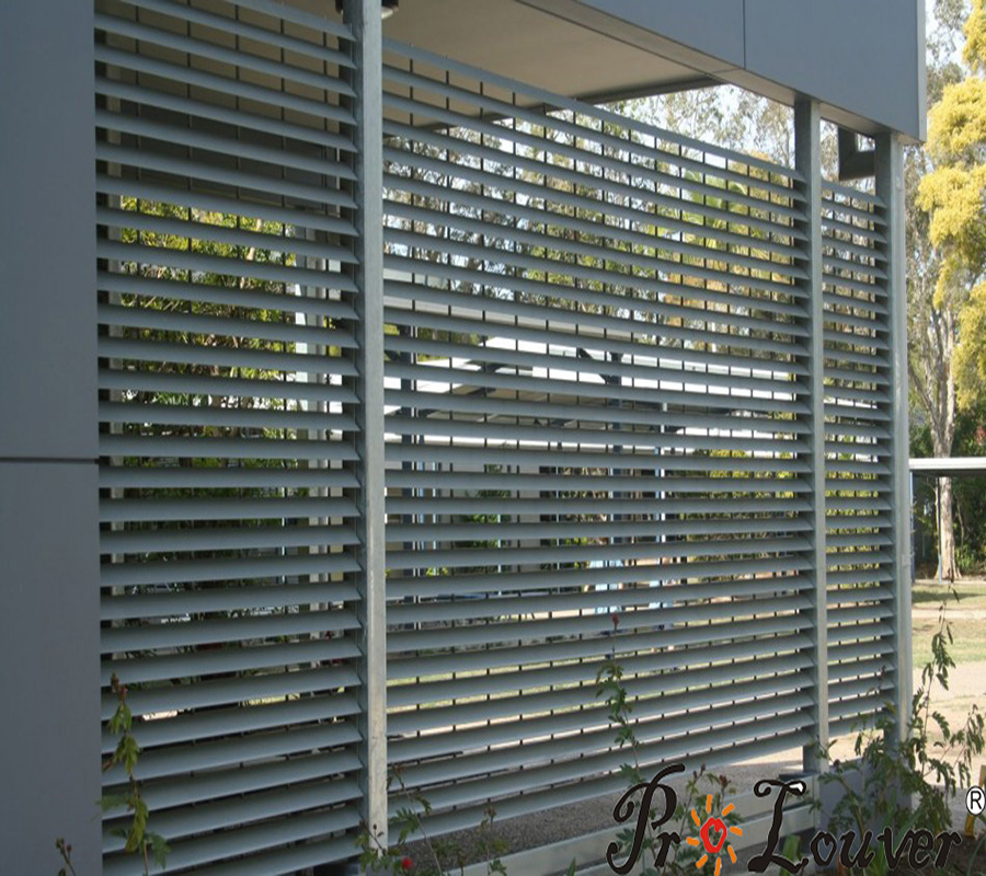 Aluminum grating, exterior louver screen, outdoor louver