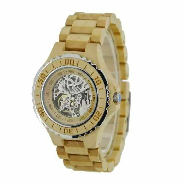 High Quality New Design Wood Material Automatic Watch
