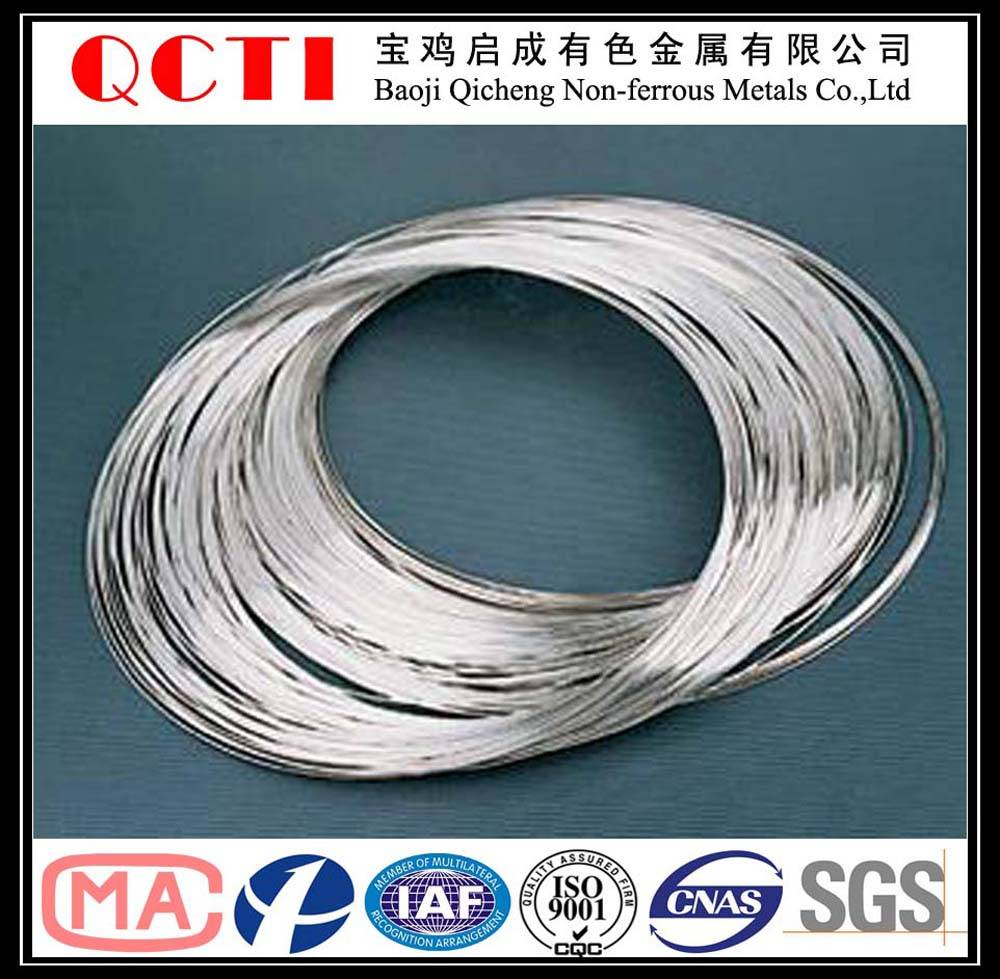 high tensile strength and corrosion resistance titanium wire for industry,jewelry and eyeglass frame