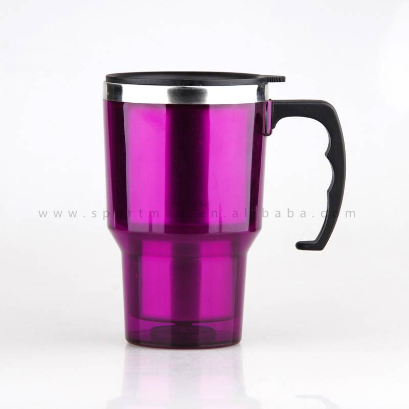 16OZ Stainless Steel Coffee Cup with Handle Insulated Thermals Travel Mug Tumbler