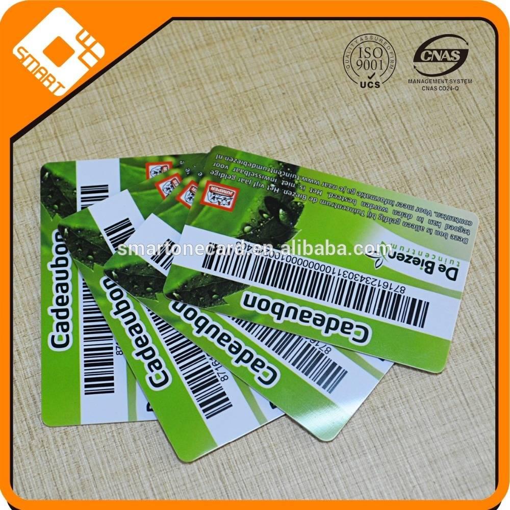 Supermarket Club CR80 plastic membership card, PVC barcode membership card from Shenzhen