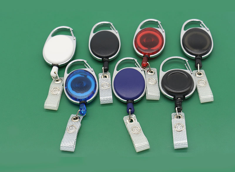 Carabiner Badge Reels Clips With Belt Clip Retractable Badge Holder Clips ID Card Holder Clip
