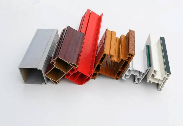 PVC color profiles of samples